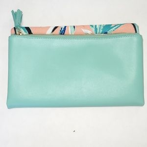 Rachel Pally bifold clutch birds of paradise